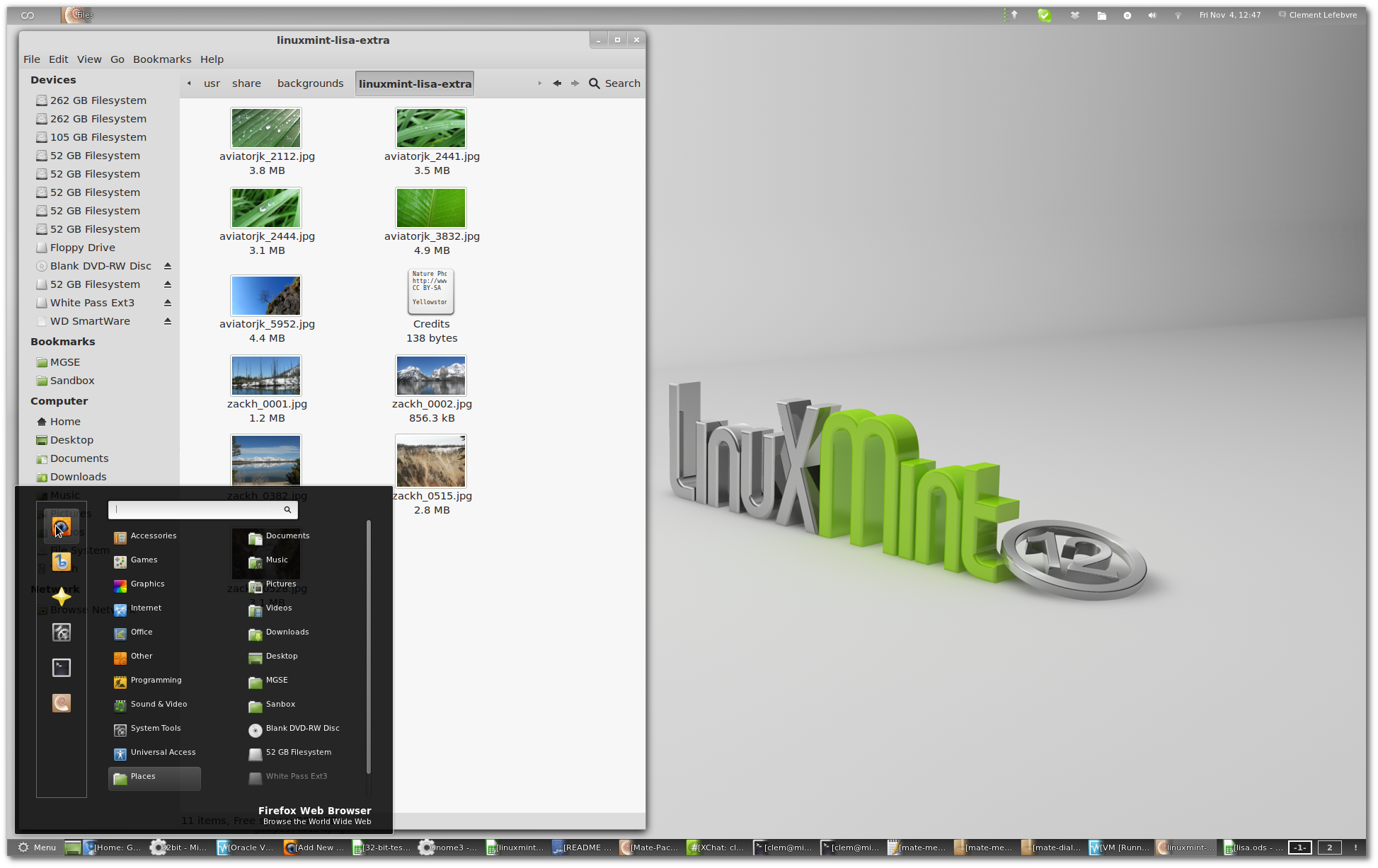 Linux Mint 12 Preview